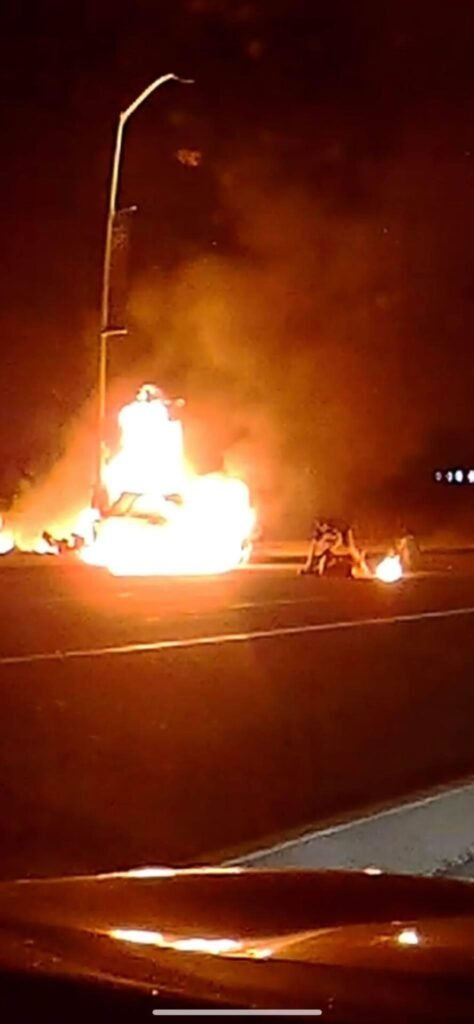 Off Duty Stockton PD Officer Saves Couple From Burning Vehicle